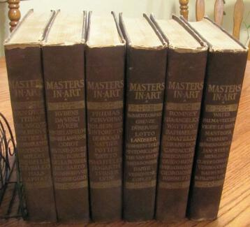 Masters in Art 780+ Monographs Print Plates 6 Book Set 1900
