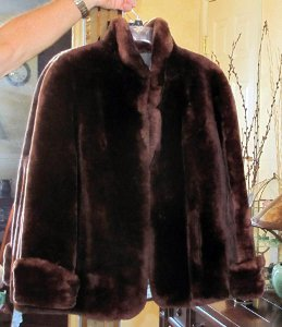 Genuine Annis Fur Mouton Lamb Jacket Coat