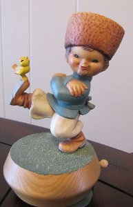 Anri Ferrandiz Sculpture Music Box Russian Rich Man