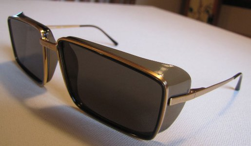 Chanel Sunglasses Unusual Retro Square with Gold Made in Italy Vintage