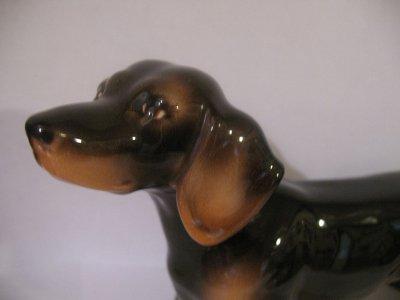 Keramos Vienna Austria Ceramic Dachshund Dog Figurine