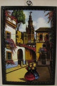 Hand Painted Tiles Mural Spain Scenery Onda Signed
