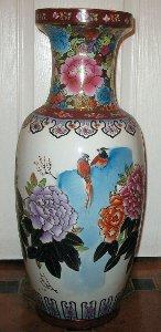 Satsuma KO Kutani Japanese Large Floor Vase